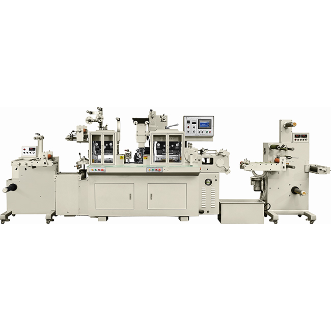 title='RBJ-330B Two heads high speed hot stamping and die cutting machine'